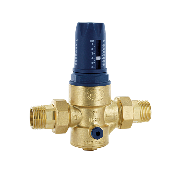 PRESSURE REDUCING VALVE WITH DIAPHRAGM TWIST WITH INCORPORATED FILTER