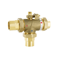 """ADJUSTABLE THERMOSTATIC MIXING VALVE """"L"""" CONFIGURATION"""