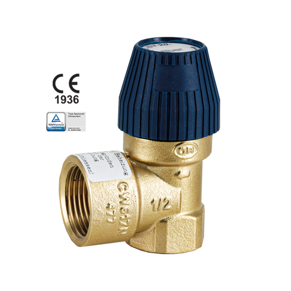 PRESET SAFETY VALVE WITH HANDWHEEL ACTIVATION, INCREASED DISCHARGE AND CERTIFIED TÜV F-F